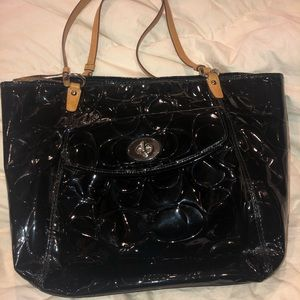 Coach Patent Leather large Tote Bag